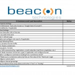 Basic GA Setup Checklist--Beacon Technologies