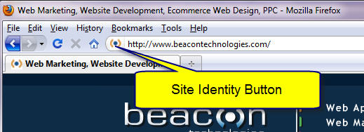 site identity button in browser