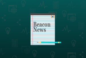 Beacon News with pencil graphic