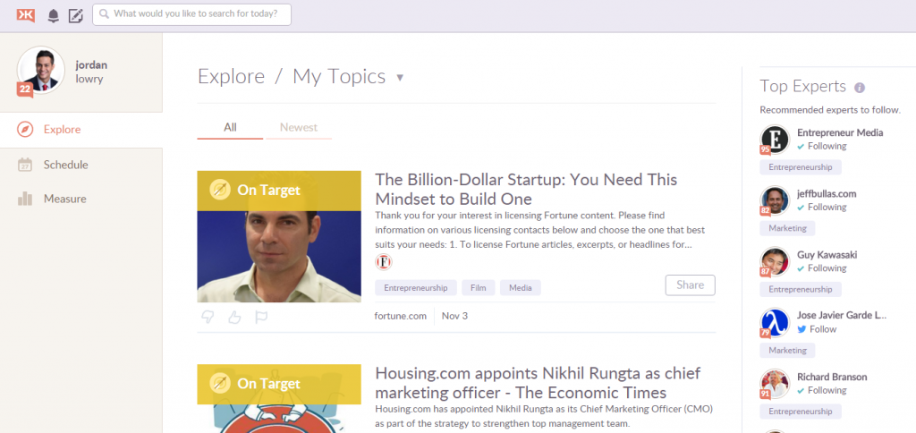 Klout Content Research