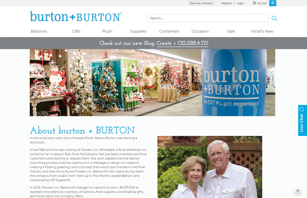 burton+Burton About Page Layout