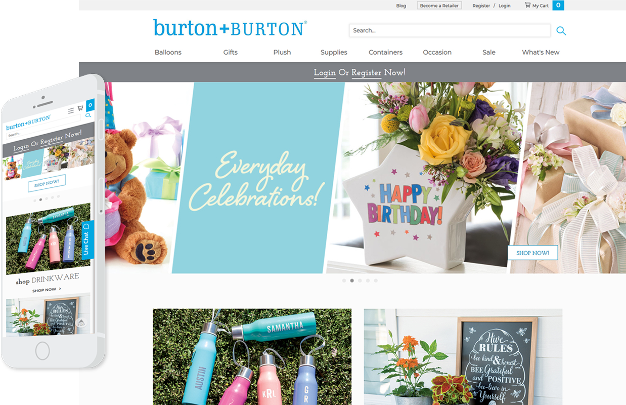 burton+Burton Responsive Website Example
