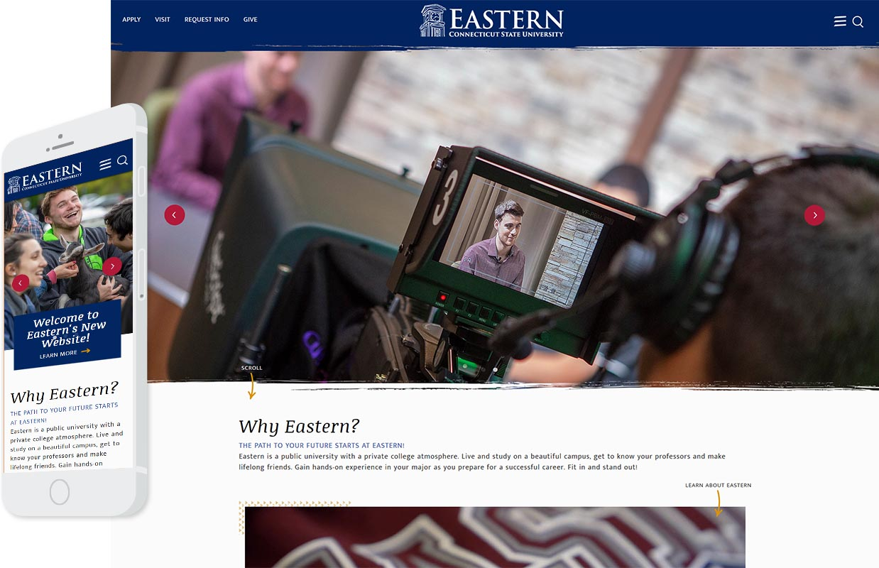 Eastern Homepage Desktop and Mobile Design Example