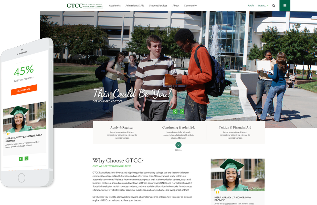 GTCC Responsive Website Example