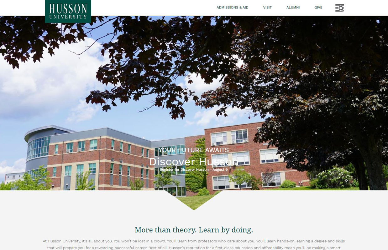 Husson University Homepage