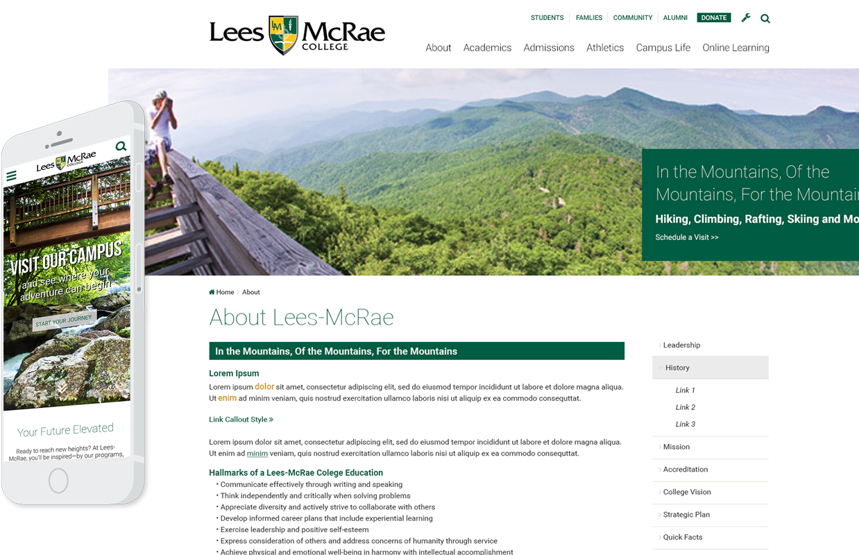 LMC Responsive Site Design Example