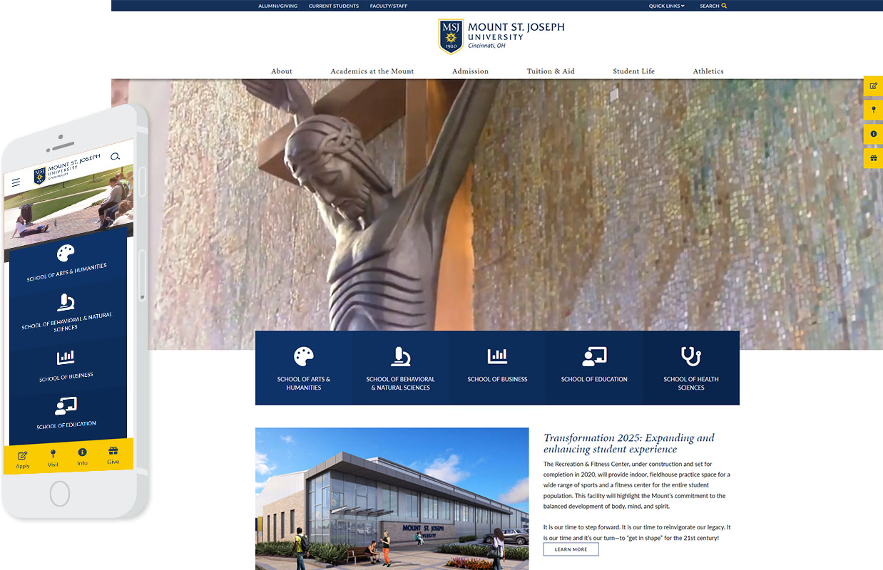 MSJ Homepage Desktop and Mobile Design Example