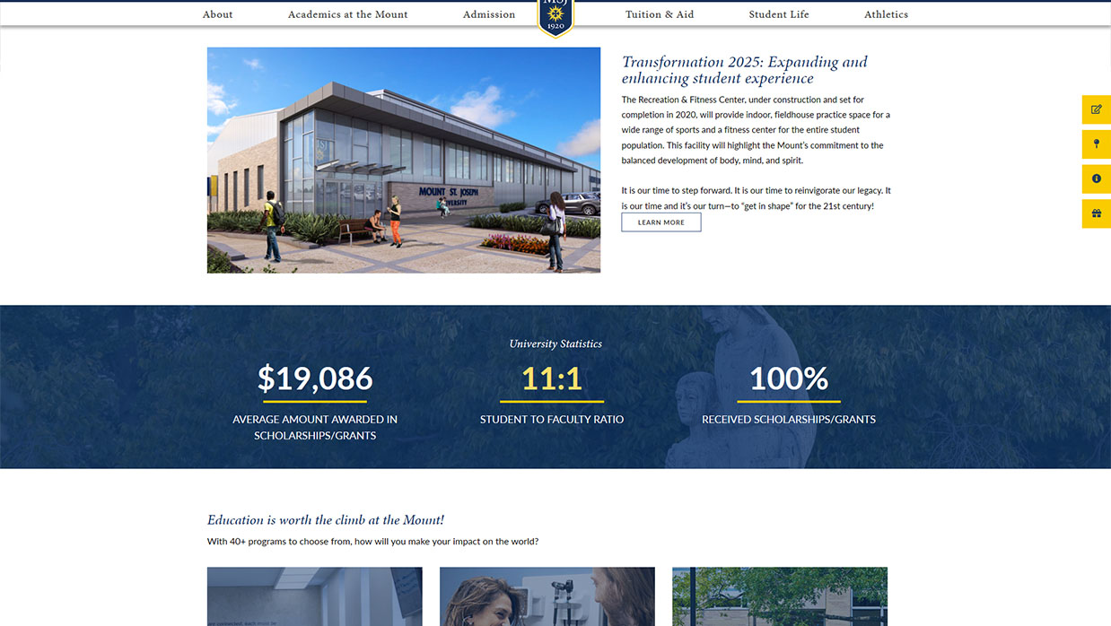MSJ Homepage Infographics Design Example