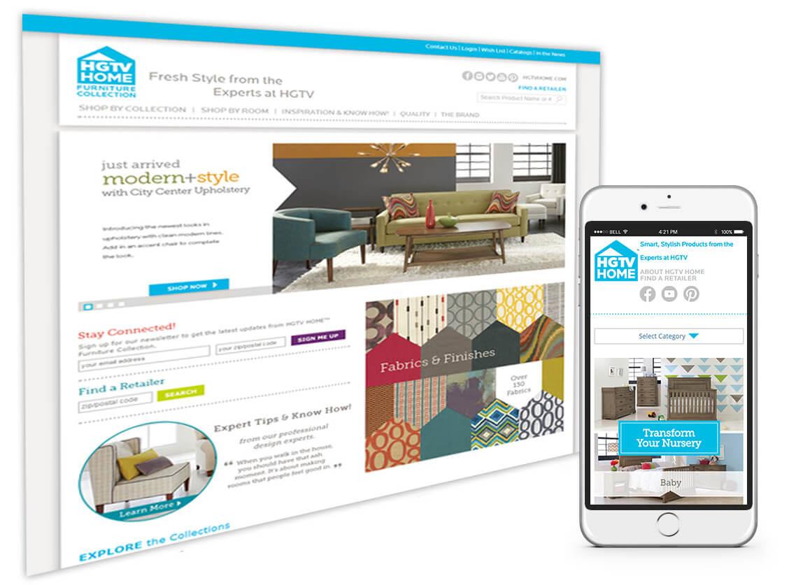 Our Web Development Work for Bassett (HGTV Home)